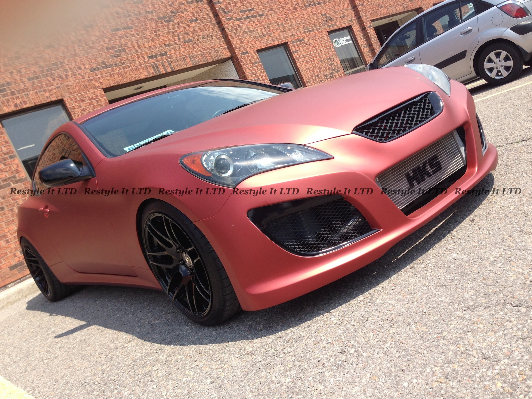 Matte Red Aluminum Hyundai Genesis Coupe Vehicle