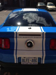 Ford Mustang GT racing stripes