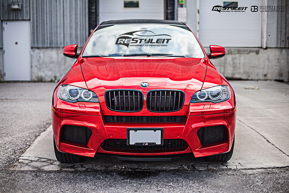 Red Chrome Bmw X6m Vehicle Customization Shop Vinyl