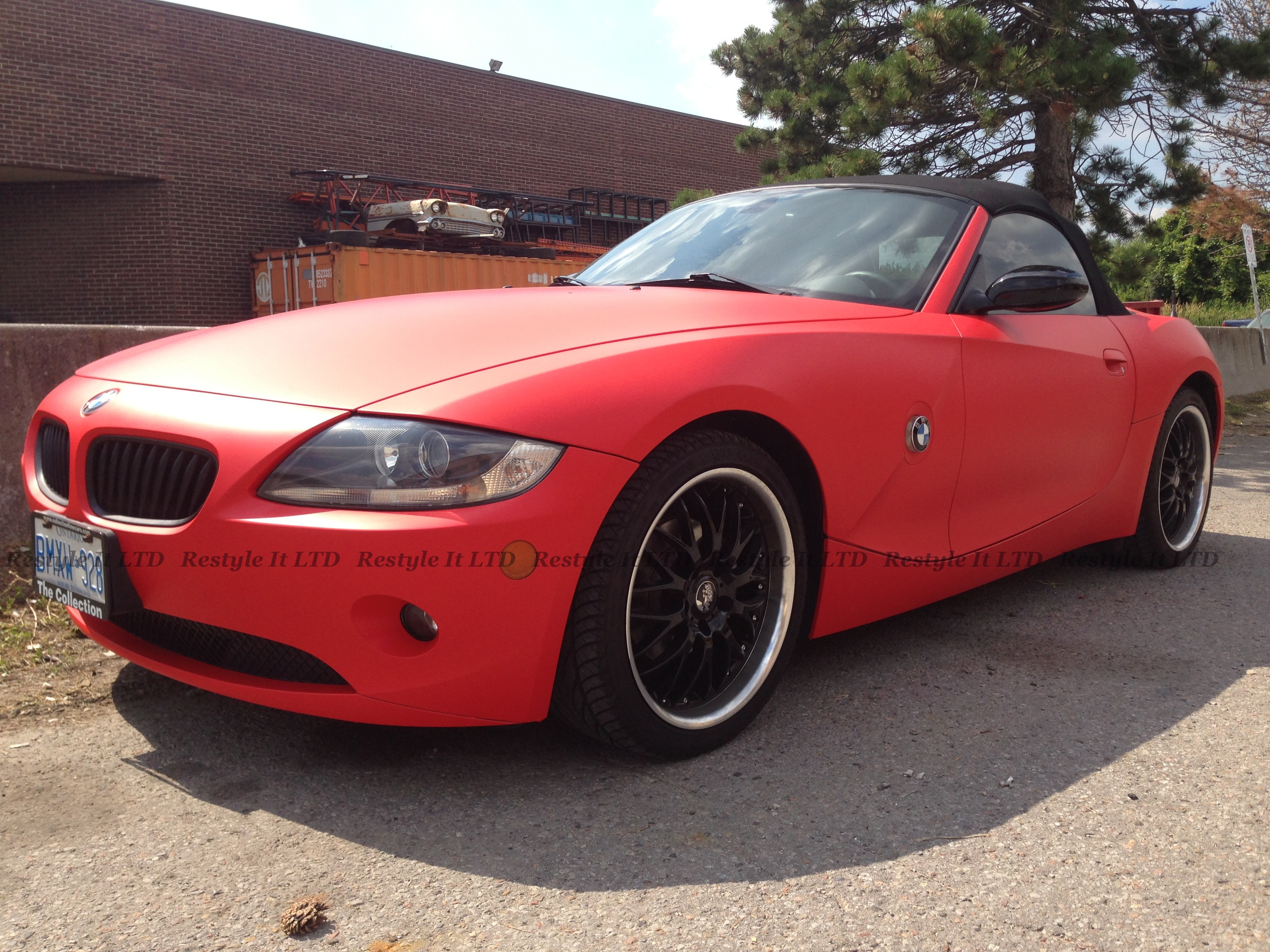 Matte Red Bmw Z4 Vehicle Customization Shop Vinyl Car Wrap Car Wrap In Toronto Miami