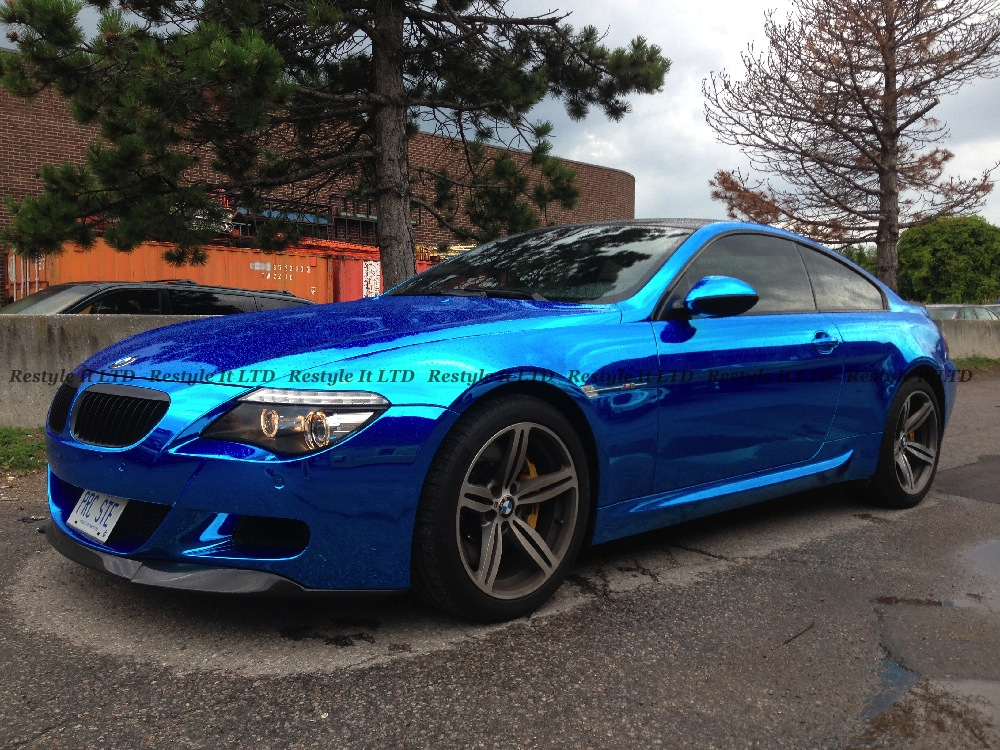 Blue Chrome Bmw M6 Vehicle Customization Shop Vinyl