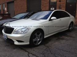 Satin Pearl White Mercedes S550