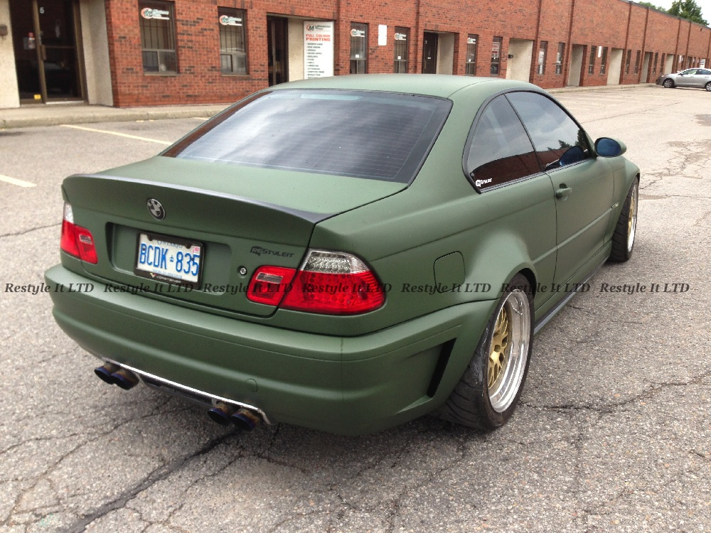 Matte Military Green Bmw Vehicle Customization Shop