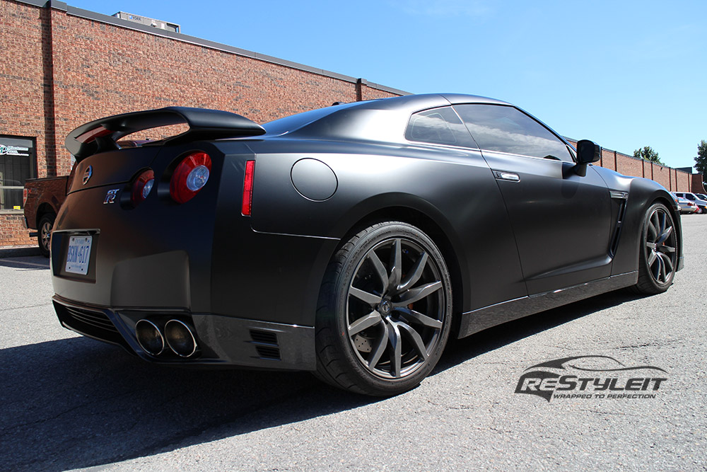Satin Black Nissan Gtr Vehicle Customization Shop