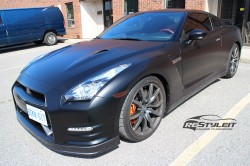Satin Black Nissan GTR