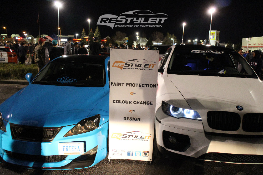 Restyle It showcasing cars at the Ertefa Car Show in Woodbridge, ON
