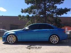 Matte Metallic Blue Mercedes C63