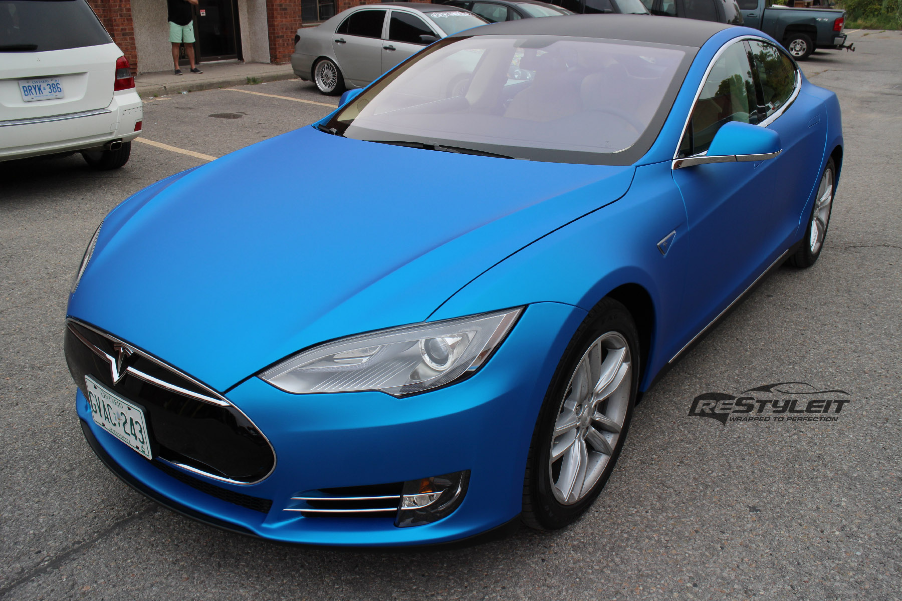 Matte Blue Aluminum Tesla Model S - Vehicle Customization ...