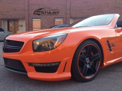 Fire Orange Mercedes SL63