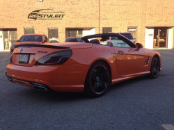Fire Orange Mercedes SL63 Orange Mercedes SL63
