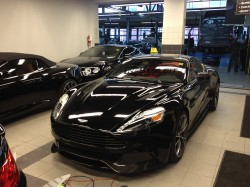 2014 Aston Martin Vanquish clear protection install