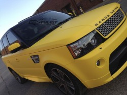 Matte Yellow Range Rover Sport Autobiography