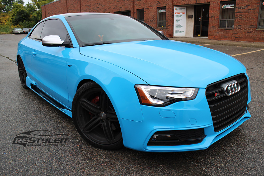 Olympic Blue Audi S5 Vehicle Customization Shop Vinyl