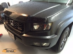 Honda Ridgeline Matte Black to Matte Military Green