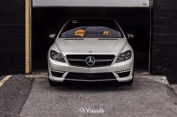 Satin Pearl White Mercedes CL63
