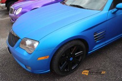 Matte Blue Aluminum Chrysler Crossfire