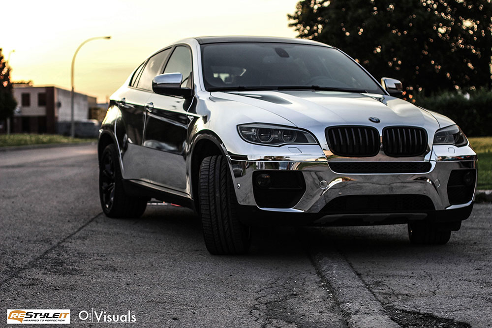 Chrome Bmw X6 Vehicle Customization Shop Vinyl Car