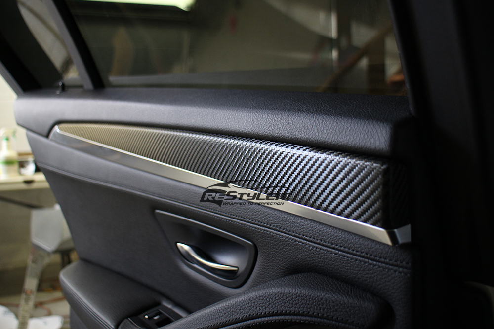 Carbon fiber interior trim vehicle customization shop vinyl car wrap car wrap in toronto for Vinyl wrapping interior trim