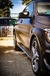 Satin Black Wrap Mecedes CLA