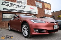 Matte Russet Red Tesla Model S