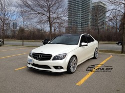 Satin Pearl White Mercedes C300