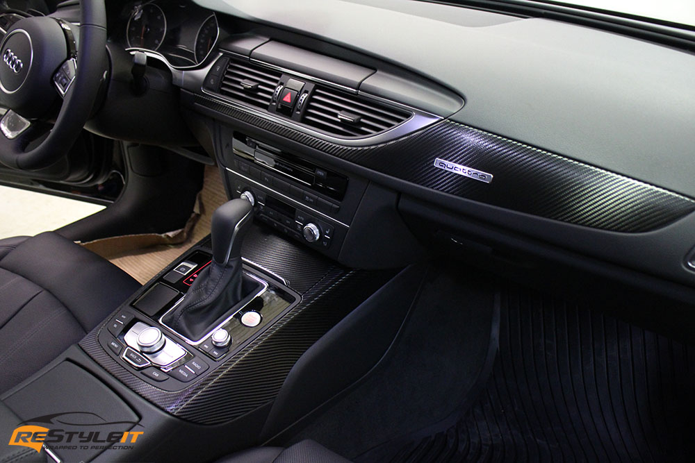 Audi Carbon Fiber Interior Wrap | Vehicle Customization Shop | Vinyl ...