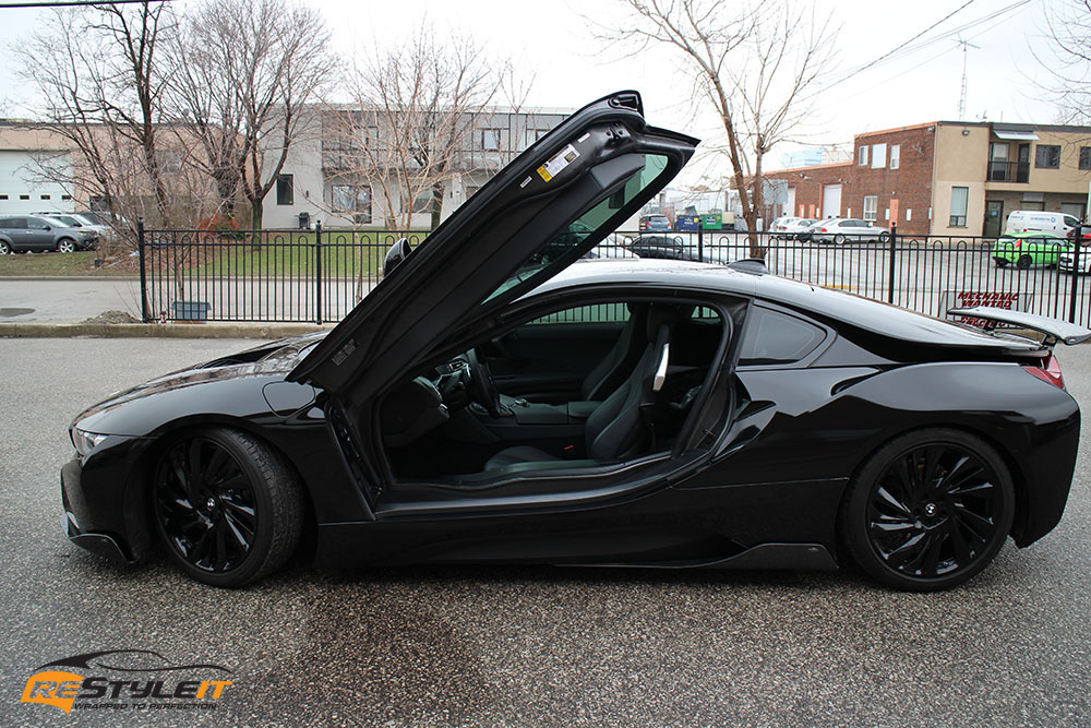 Gloss Black Bmw I8 Vehicle Customization Shop Vinyl Car Wrap