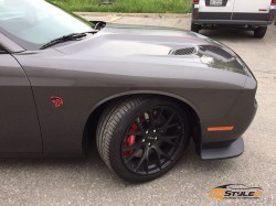 Dodge Challenger Hellcat Clear Protection and Stripes