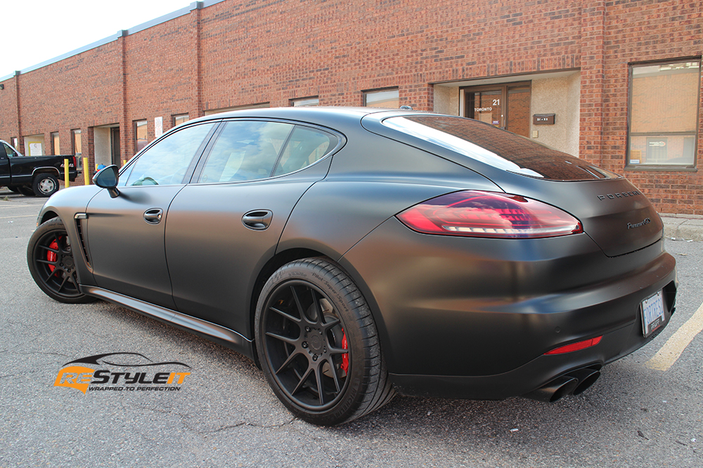 Satin Black 2014 Porsche Panamera Gts Vehicle