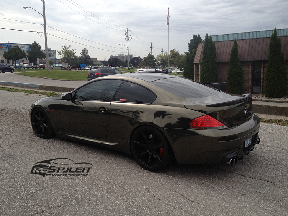 Bmw 645i Black Chrome Full Body Wrap Vehicle