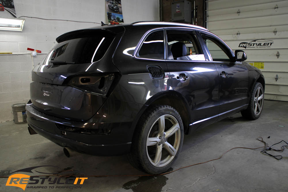 audi q5 metallic black wrap