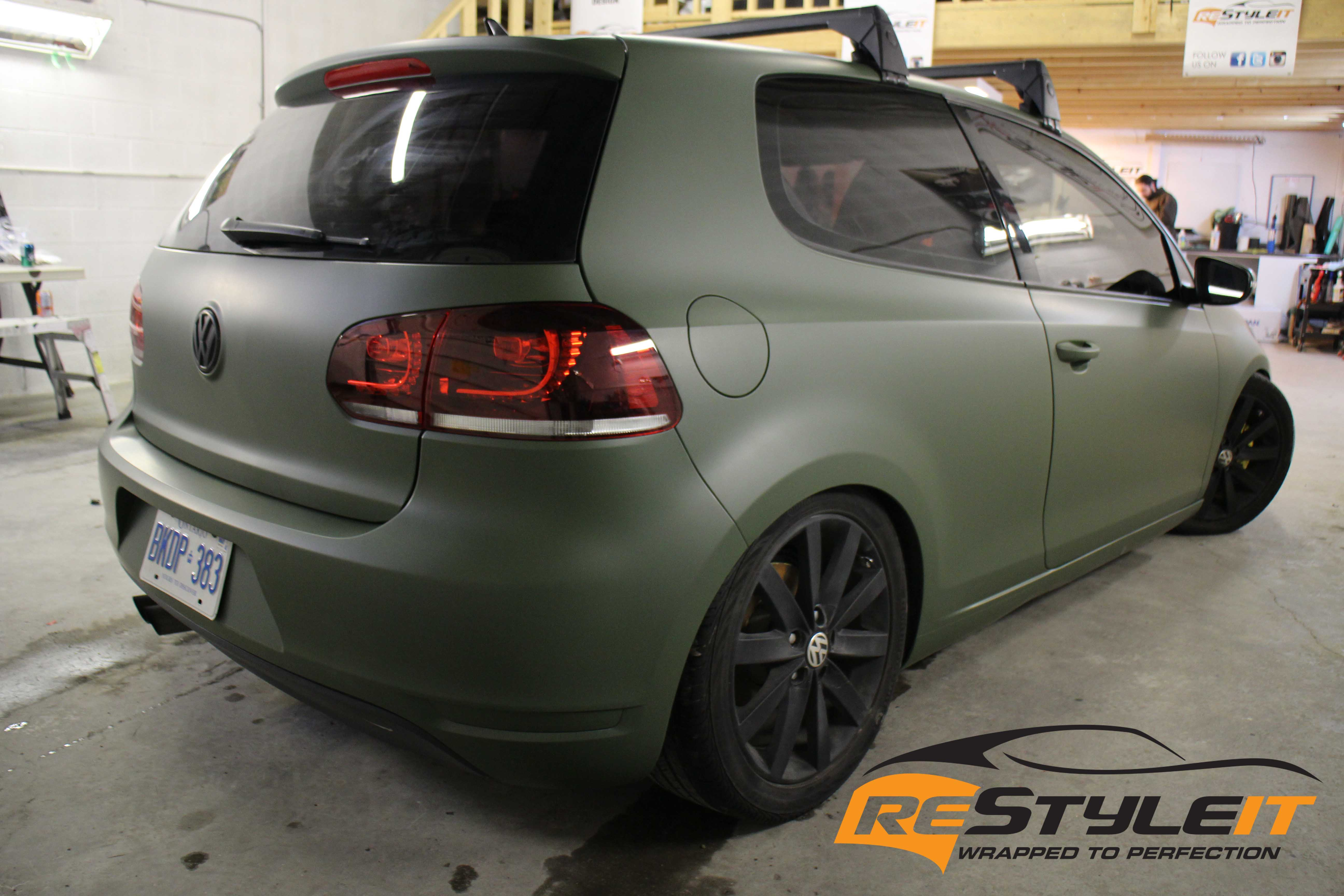 Vw Mk6 Matte Military Green Vehicle Customization Shop