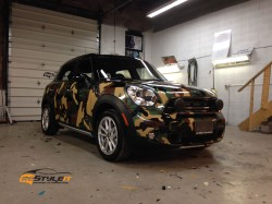 Mini Countryman Custom Camouflage wrap