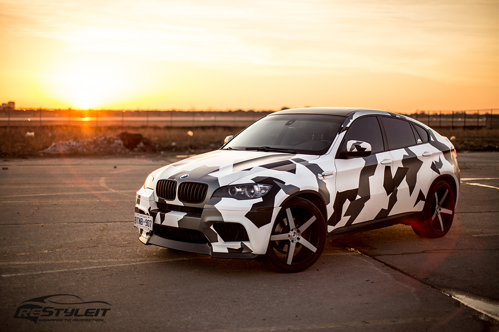 Arctic Camo Bmw X6 Vehicle Customization Shop Vinyl