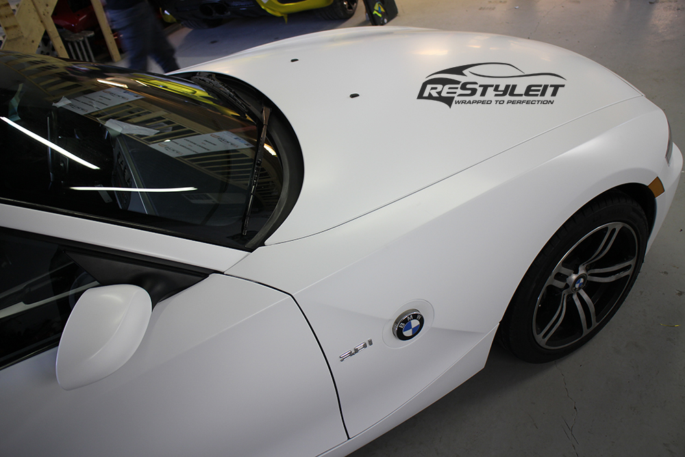 Bmw Z4 Satin White Vehicle Customization Shop Vinyl