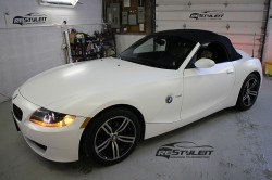 Satin White BMW Z4