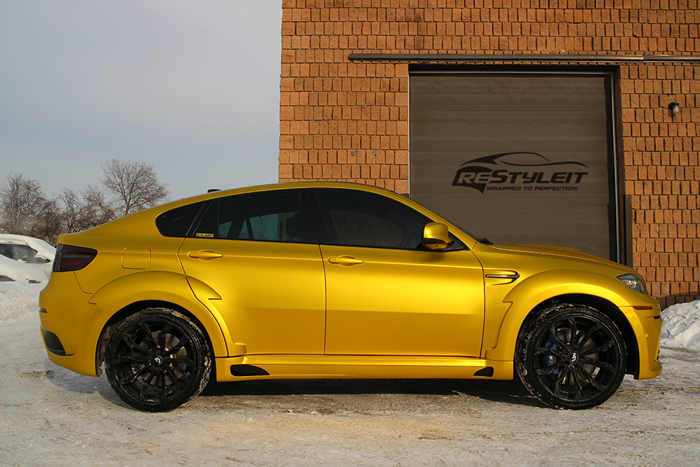 Anodized Yellow X6m Vehicle Customization Shop Vinyl