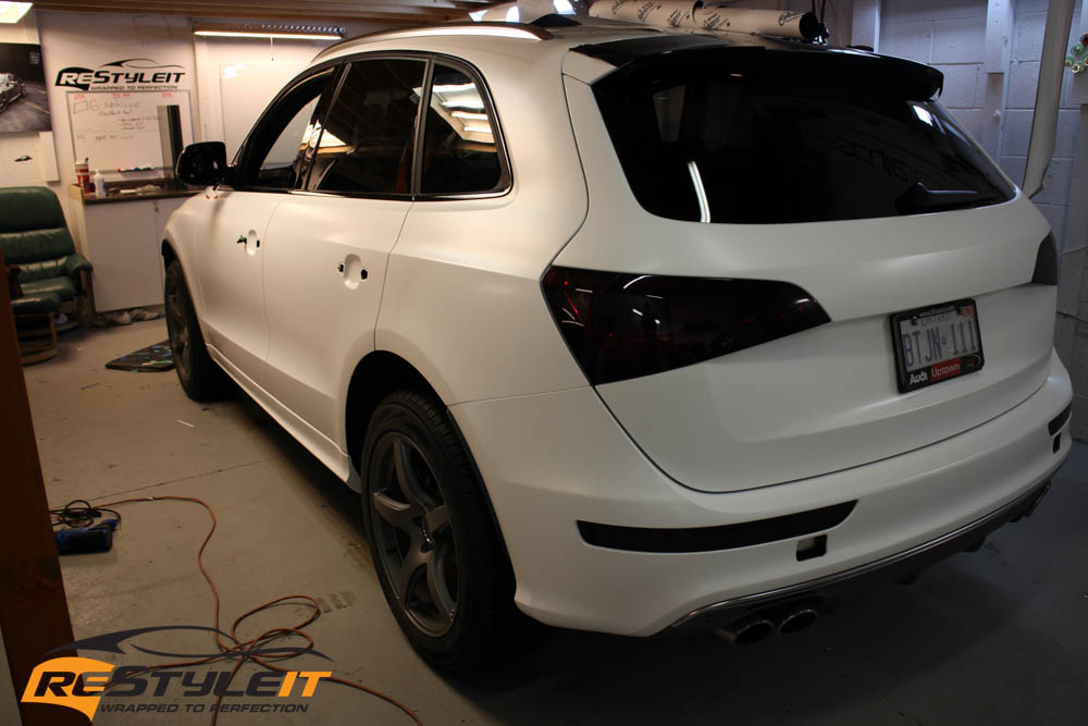 Audi Q5 Satin White Vehicle Customization Shop Vinyl