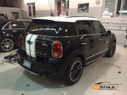 Mini Countryman White Roof and Stripes