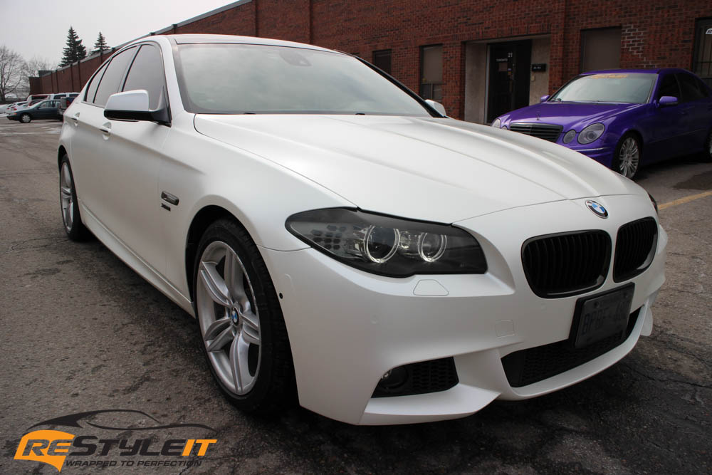Bmw 550i Satin Pearl White Vehicle Customization Shop