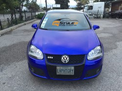 Raspberry Blue Volkswagen Golf