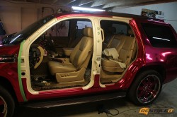 Pink Chrome Door Jambs Wrap