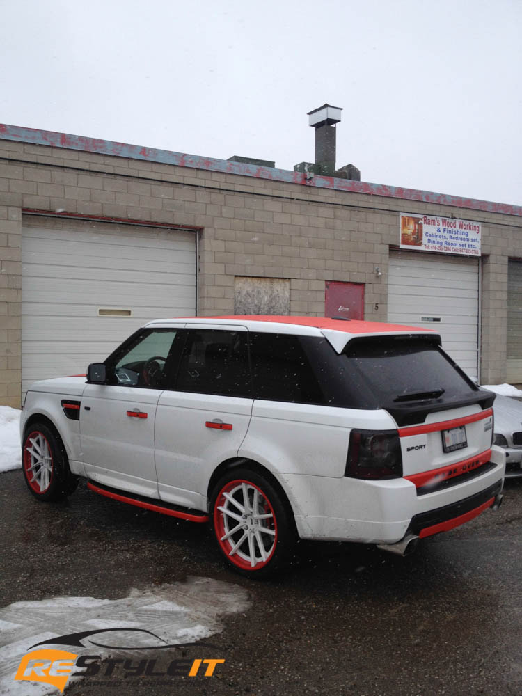 Range Rover Red Accents Vehicle Customization Shop