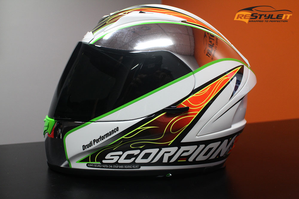 Helmet Wrap Vehicle Customization Shop Vinyl Car Wrap Car - Vinyl wrap for motorcycle helmets