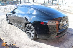Tesla Model S Chrome Black Out