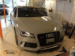 Audi RS7 clear protection and grill black out