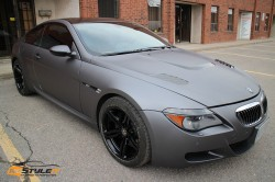Matte dark grey BMW M6