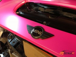 Hot Pink Mini Cooper S Convertible