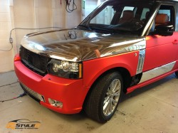 Matte Red Chrome Range Rover Sport