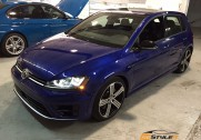 VW Golf R Clear Protection and Gloss Black Rood wrap
